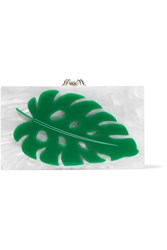 Charlotte Olympia Verdant Pandora Perspex Clutch White