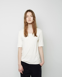La Garconne Moderne The New Didion Rib Tee Chalk