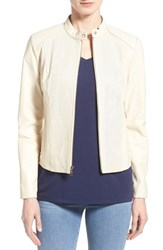 Women's Cole Haan Perforated Leather Jacket