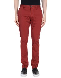 Armani Jeans Casual Pants Brick Red