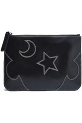 Mcq By Alexander Mcqueen Cutout Leather Pouch Black