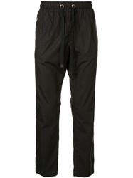 Dolce And Gabbana Straight Leg Track Trousers Black