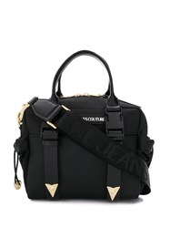 Versace Jeans Couture Logo Patch Mesh Detail Tote Bag 60