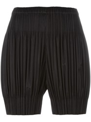 Issey Miyake Pleats Please By Pleated Shorts Black