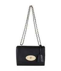 Mulberry Lily Glossy Shoulder Bag Black