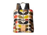 Orla Kiely Matt Laminated Classic Multi Stem Backpack Tote Multi Tote Handbags