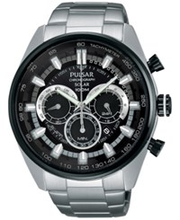 Pulsar Men's Solar Chronograph Stainless Steel Bracelet Watch 45Mm Px5033 No Color