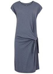 Velvet By Graham And Spencer Gussie Slubbed Jersey T Shirt Dress Dark Blue