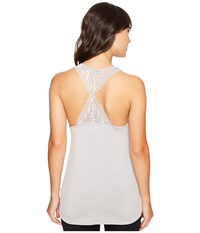 Pj Salvage Lace Back Tank Top Silver Women's Sleeveless