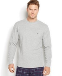 Polo Ralph Lauren Men's Big And Tall Thermal Crew Neck Shirt Andover Hthr