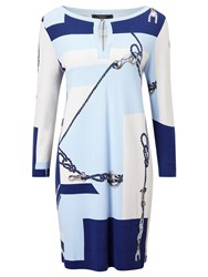 Weekend Maxmara Sulmona Rope Print Tunic Dress Ultramarine
