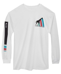 Lrg Men's The Original Prism Long Sleeve T Shirt White