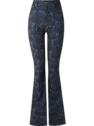 Amapa High Waisted Flared Jeans Blue