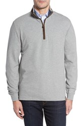 Thaddeus Men's Clifton Quarter Zip Pullover Silver