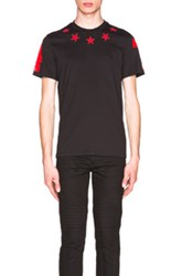 Givenchy Cuban Fit Star Collar 74 Tee In Black