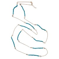 Cosanuova Long Turquoise Necklace Rose Gold