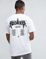10.Deep 10 Deep T Shirt With Tour Back Print White