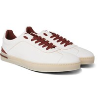 b9edc8d9a16 Loro Piana 70 S Walk Full Grain Leather Sneakers White