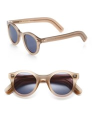 Cutler And Gross Classic 51Mm Round Sunglasses Beige
