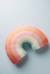 Anthropologie Rainbow Pillow Pink
