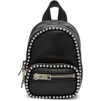 Alexander Wang Black Mini Attica Soft Backpack Xbody Bag