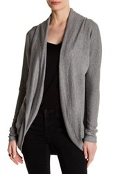 Heather By Bordeaux Cocoon Cardigan Gray