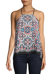 Laundry By Shelli Segal Printed Crepe Halter Top Multi