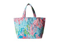 Lilly Pulitzer Beach Tote Turquoise Lets Cha Cha Accessories Tote Handbags Blue