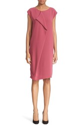 Max Mara Women's 'Panetto' Front Ruffle Cady Shift Dress