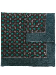 Canali Jacquard Reversible Scarf Green