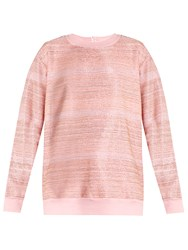 Ashish Embellished Cotton Blend Sweatshirt Pink