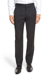 Men's Bonobos Flat Front Solid Stretch Wool Trousers Charcoal