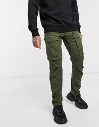 G Star Rovic Zip 3D Straight Tapered Fit Trousers In Khaki Green