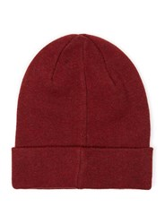 Topman Green Selected Homme Red And Black Twist Beanie Hat