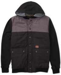 Billabong Trigg Quilted Hooded Jacket Black