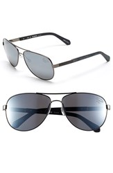 Men's Original Penguin 'The Davis' 61Mm Polarized Sunglasses Matte Gunmetal Silver Flash
