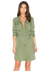 Sanctuary Army Girl Shirt Dress Olive
