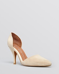 Jeffrey Campbell Pointed Toe D'orsay Pumps Callista High Heel Nude