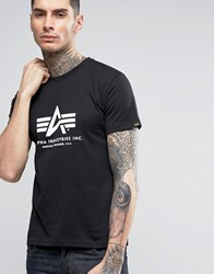 Alpha Industries Logo T Shirt Regular Fit In Black Black
