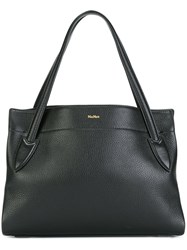 Max Mara Textured Shoulder Bag Black