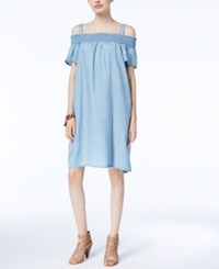 Inc International Concepts Cold Shoulder Shift Dress Only At Macy's Peony Wash