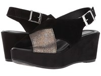 Cordani Cleary Black Suede Pewter Sandals
