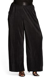 City Chic Plus Size Women's Micropleat Wide Leg Pants