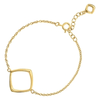 Dinny Hall 22Ct Gold Plated Sterling Silver Cushion Wristlet Gold