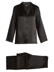 La Perla Silk Satin Pyjama Set Black