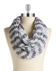 Collection 18 Chevron Textured Infinity Scarf Black