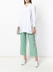 Department 5 Wide Leg Cropped Trousers Green