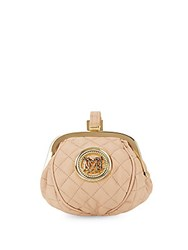 Love Moschino Quilted Faux Leather Pouch Pink