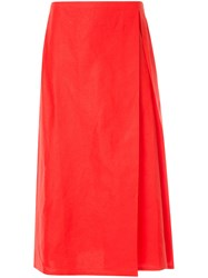 Sofie D'hoore Pleat Front A Line Skirt Red