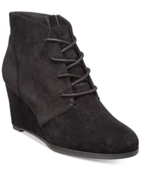 American Rag Baylie Lace Up Wedge Booties Only At Macy's Women's Shoes Black